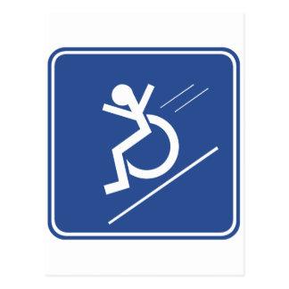 Wheelchair Whee! Postcard