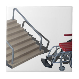 WheelchairAndStairs080214 copy Small Square Tile