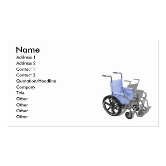 WheelchairBlueSeat073110, Name, Address 1, Addr... Pack Of Standard Business Cards