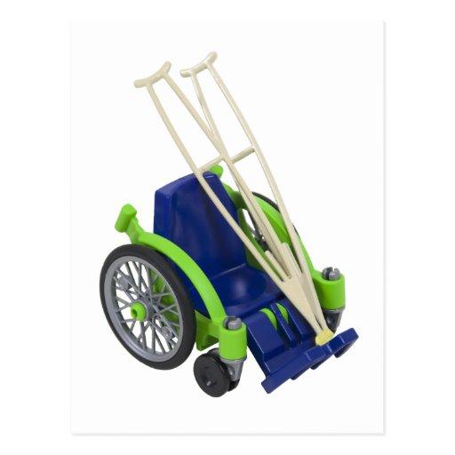 WheelchairCrutches013110 Postcard