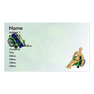 WheelchairCrutches, Name, Address 1, Address 2,... Double-Sided Standard Business Cards (Pack Of 100)