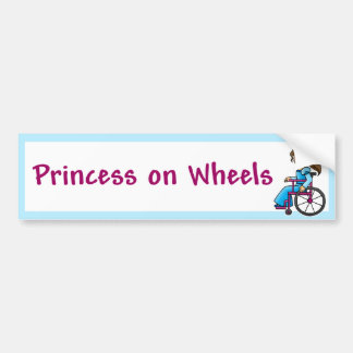 WheelchairPrincessBumper Bumper Sticker