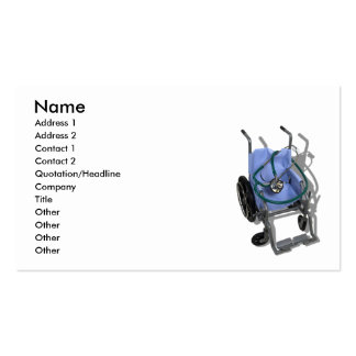 WheelchairStethoscope073110, Name, Address 1, A... Double-Sided Standard Business Cards (Pack Of 100)