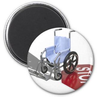 WheelchairStopSign103110 6 Cm Round Magnet