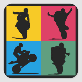 Wheelie it square sticker