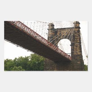 Wheeling Suspension Bridge Rectangular Sticker