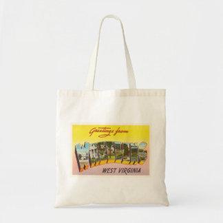 Wheeling West Virginia WV Vintage Travel Postcard- Tote Bag