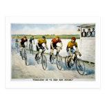 """Wheelmen in a """"Red Hot Finish."""" Postcard"""