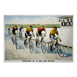 "Wheelmen in ""A Red Hot Finish"" Poster"