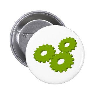 Wheels inside clock pinback button