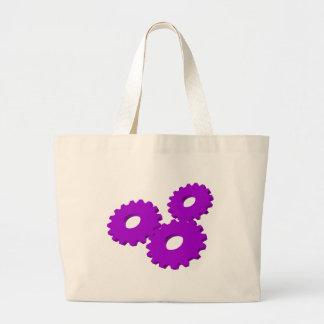 Wheels inside clock jumbo tote bag