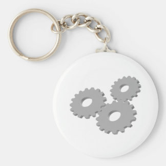 Wheels inside clock key ring