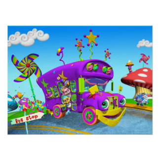 Wheels on the Bus 24w X 18h Poster