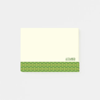 Wheels pattern spring colors custom text post-it notes