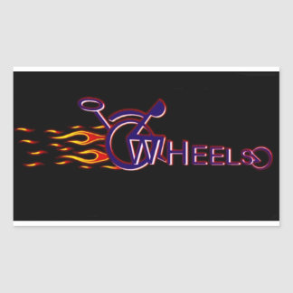 Wheels Rectangular Sticker