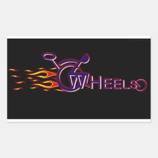 Wheels Rectangular Sticker