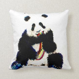 When a panda catches a rainbow... cushion