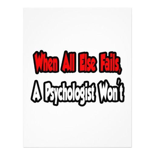 When All Else Fails, A Psychologist Won't Personalized Flyer