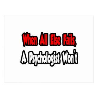 When All Else Fails, A Psychologist Won't Postcard