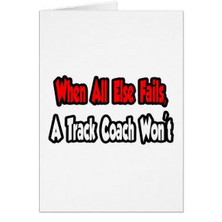 When All Else Fails, A Track Coach Won't Card