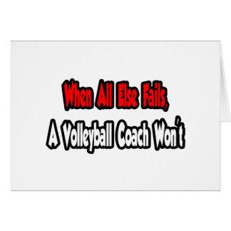 When All Else Fails, A Volleyball Coach Won't Card