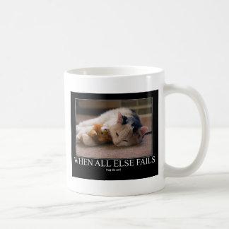When All Else Fails - Hug Da Cat Artwork Coffee Mug