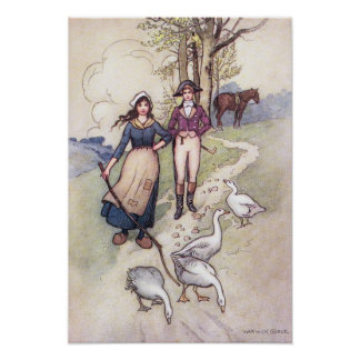 When All the World is Young by Warwick Goble Poster