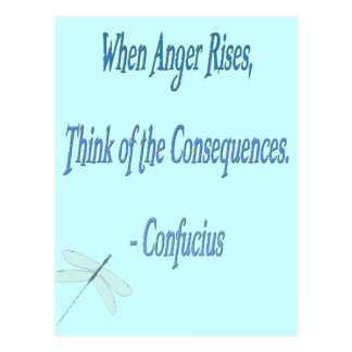 *When Anger Rises...*- Confucius Quote Postcard