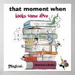 When Books Come Alive Literacy Poster