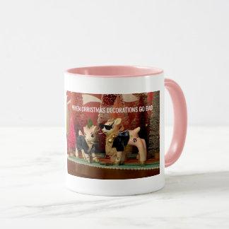 When Christmas Decorations Go Bad two-tone mug