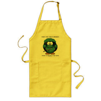 When Code Is Broken There Surgery To Be Done Tux Long Apron