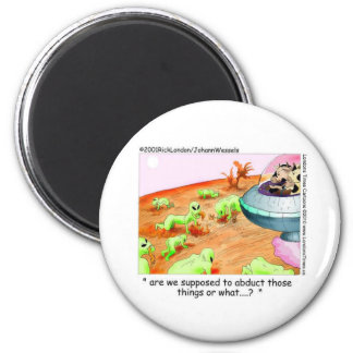 When Cows Ruled Space Funny Gifts Tees Mugs Etc 6 Cm Round Magnet