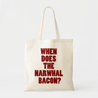 When Does the Narwhal Bacon Reddit Question Tote Bag