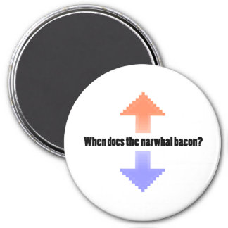 When Does the Narwhal Bacon Upvote Reddit Question 7.5 Cm Round Magnet
