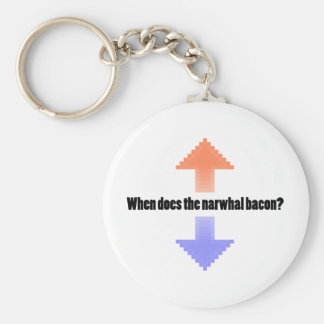 When Does the Narwhal Bacon Upvote Reddit Question Basic Round Button Key Ring