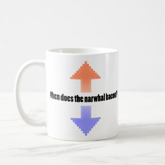 When Does the Narwhal Bacon Upvote Reddit Question Mug