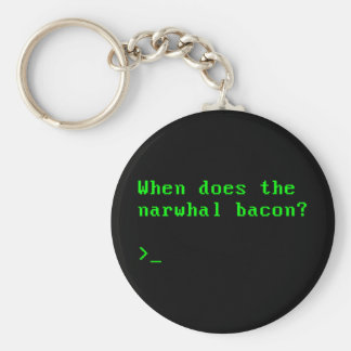 When Does the Narwhal Bacon VGA Reddit Question Basic Round Button Key Ring