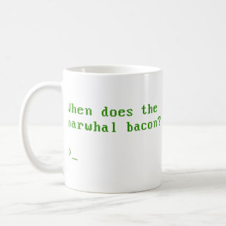 When Does the Narwhal Bacon VGA Reddit Question Basic White Mug