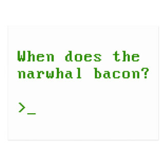 When Does the Narwhal Bacon VGA Reddit Question Postcard