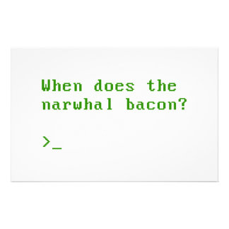 When Does the Narwhal Bacon VGA Reddit Question Personalized Stationery