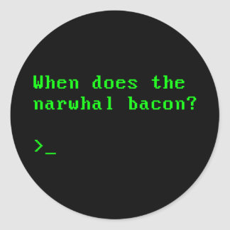 When Does the Narwhal Bacon VGA Reddit Question Round Sticker