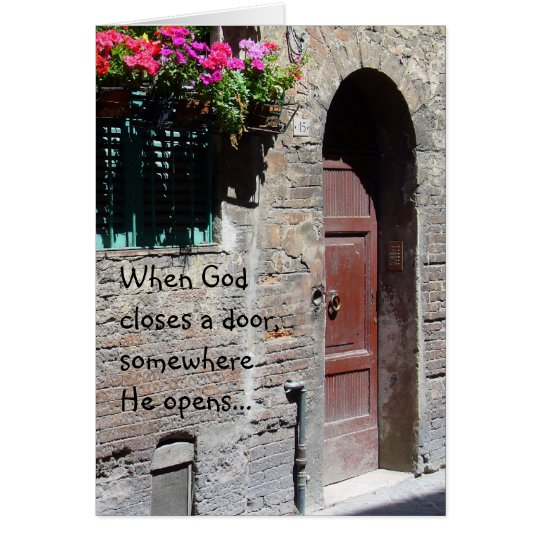 When God Closes a Door Card