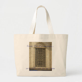 When God closes a door... Jumbo Tote Bag