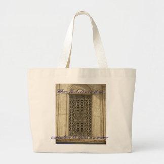 When God closes a door.... Jumbo Tote Bag