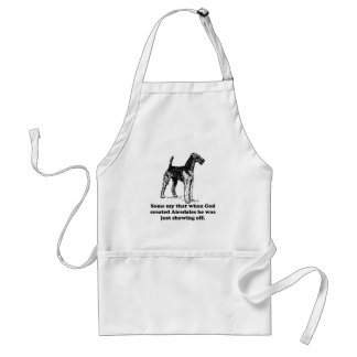 When God Created Airedales Apron
