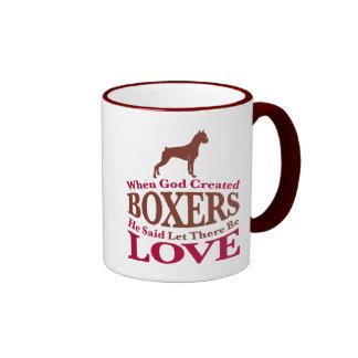 When God Created Boxers Ringer Mug