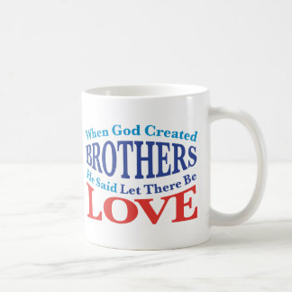 When God Created Brothers Mugs