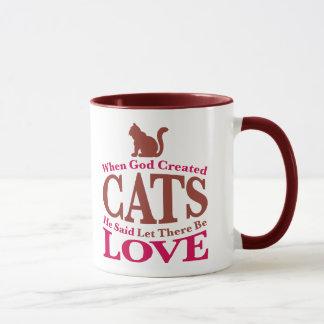 When God Created Cats Mug