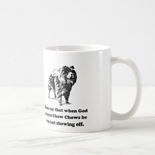 When God Created Chow Chows Coffee Mugs