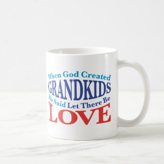 When God Created Grandkids Coffee Mugs